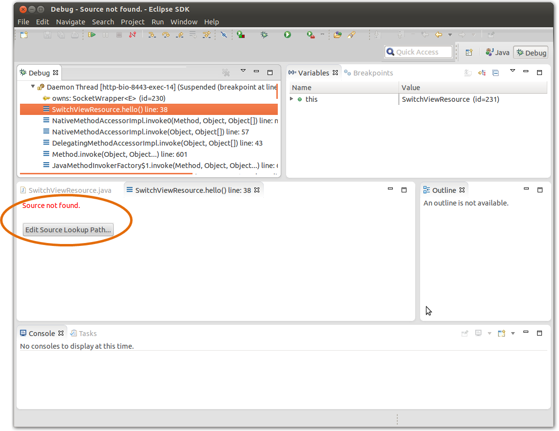 Attaching source files when debugging with Eclipse