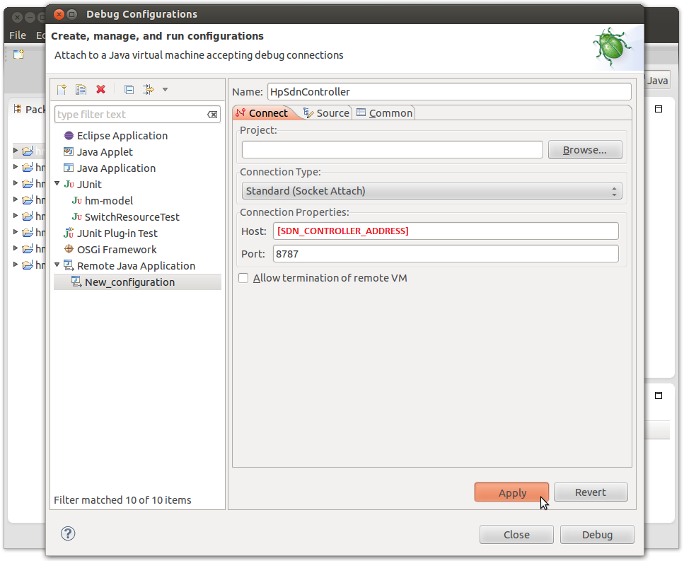 Remote debugging with Eclipse
