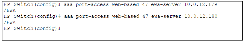 Configuring web-based authentication