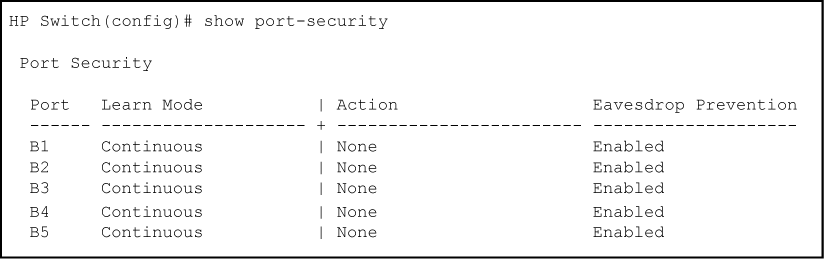 Using Port Security