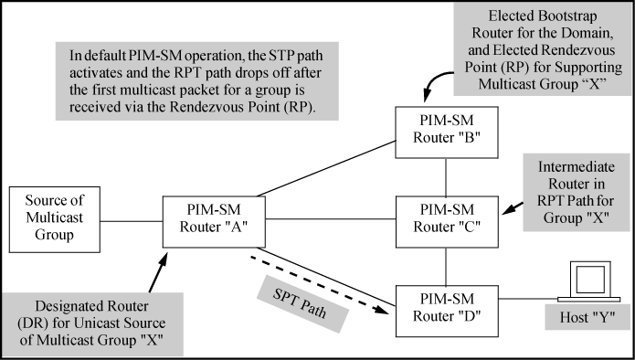 Configuring PIM-SM on the router