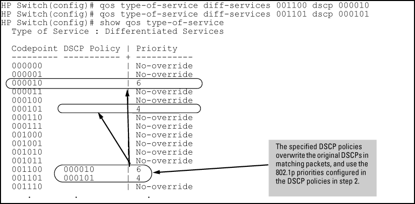 DSCP Policy