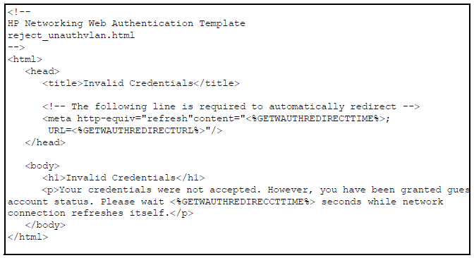 Customizing web-authentication HTML files (optional)