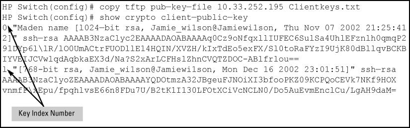 SSH client public-key authentication notes