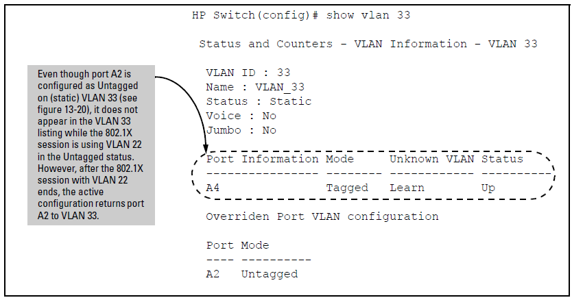 How RADIUS/802 1X authentication affects VLAN operation
