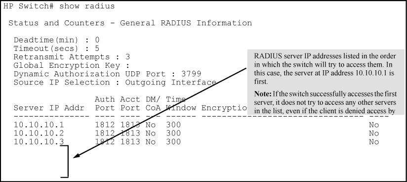 Changing RADIUS-server access order