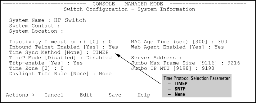 SNTP: Selecting and configuring