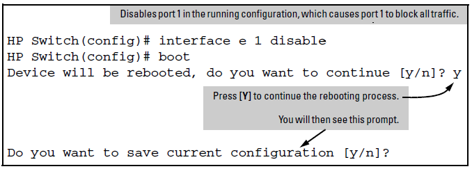 Using the CLI to implement configuration changes